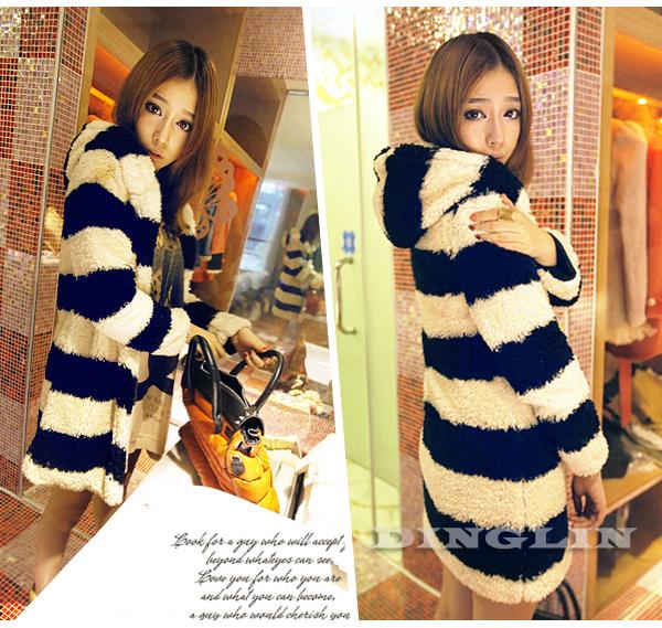 Lady Long Sleeve Hoodie Jacket Coat Warm Outerwear Hooded Fleece #123