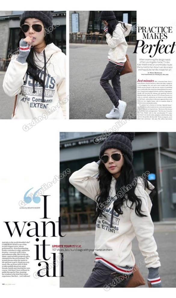 Womens Lady Long Sleeve Hoodie Jacket Coat Warm Outerwear Hooded