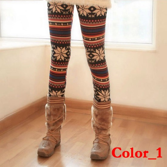 Knitted-Colorful-Crystal-Pattern-Leggings-Tights-Pants-Casual-Comfortable-163