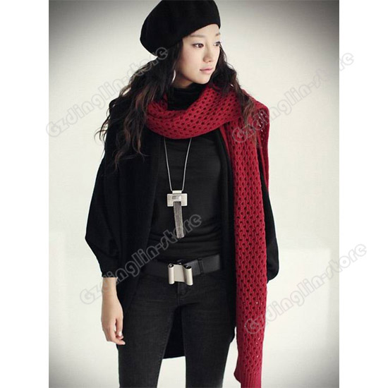 New-Batwing-Cardigans-Shawl-Knit-Coat-Jacket-Sweater-Woolen-Knitwear-Casual-203