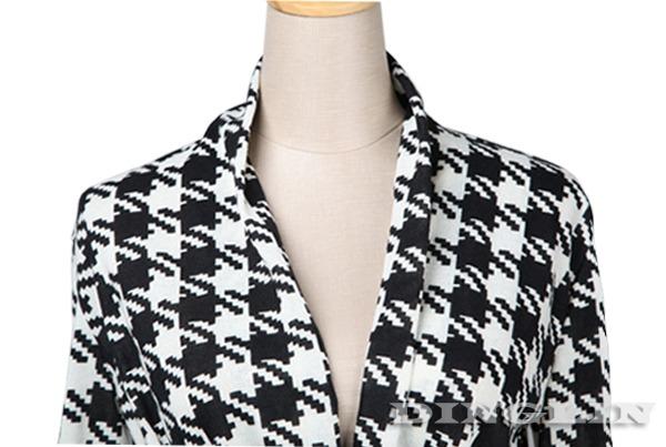 Womens-Ladies-Long-Sleeve-Cotton-Casual-Lapel-Plaid-Shirt-Blouse-S-M-L-Size-271