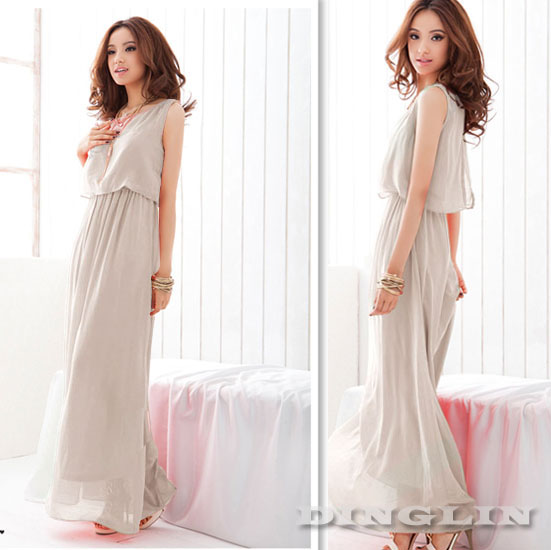 Womens-Bohenmia-Pleated-Cocktail-Evening-Princess-Chiffon-Maxi-Long-Dress-410