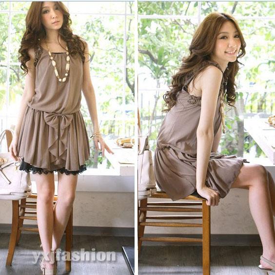 Womens Fashion Summer Casual Chiffon Sleeveless Vest Sundress Mini ...