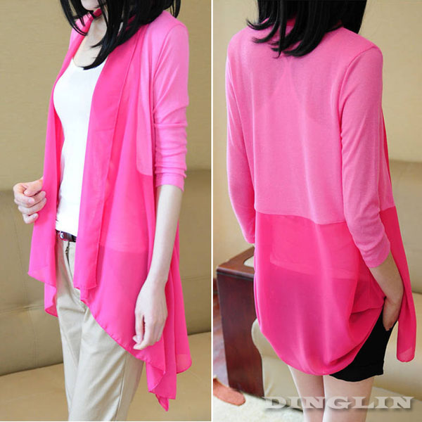 Women Long Sleeve Chiffon Casual Summer Beach Outdoor Cardigan ...