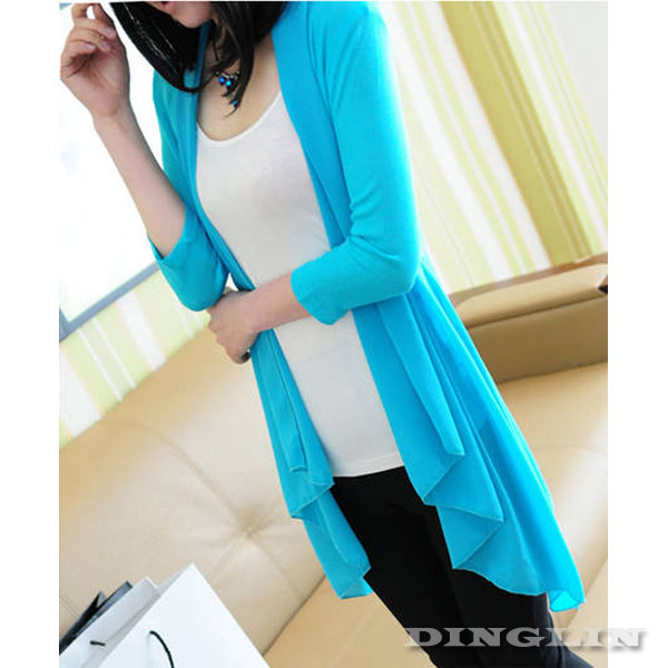 Women Long Sleeve Chiffon Casual Summer Beach Outdoor Cardigan