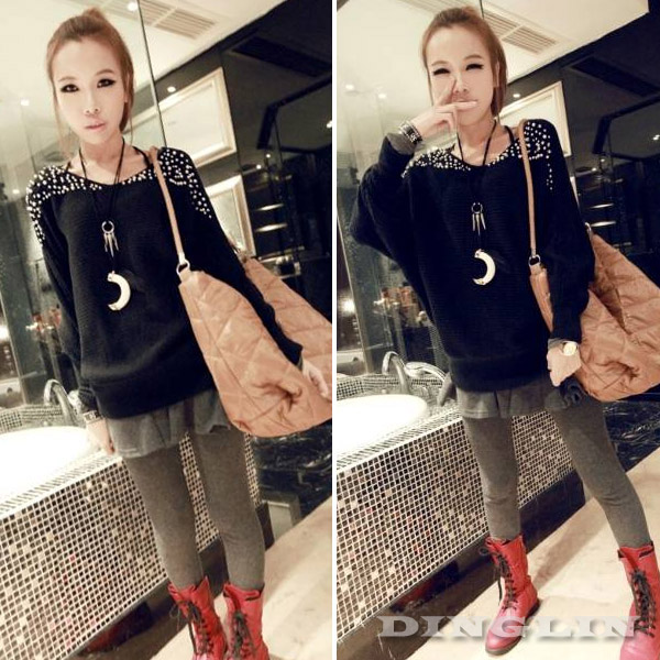 Womens-Long-Sleeve-Winter-Fall-Casual-Pearl-Knit-Tops-T-Shirts-Sweater-Blosue