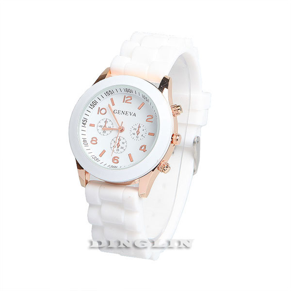 Women Girl Fashion Design Casual Silicone Jelly Sport Wrist Analog Quartz Watch