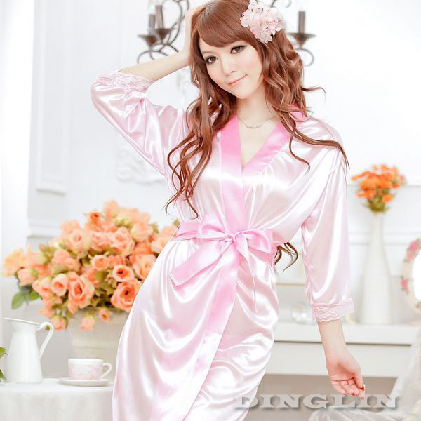 New Women s Open Front Sexy Lingerie Robe Pyjamas Nightgown ... ea9e57068