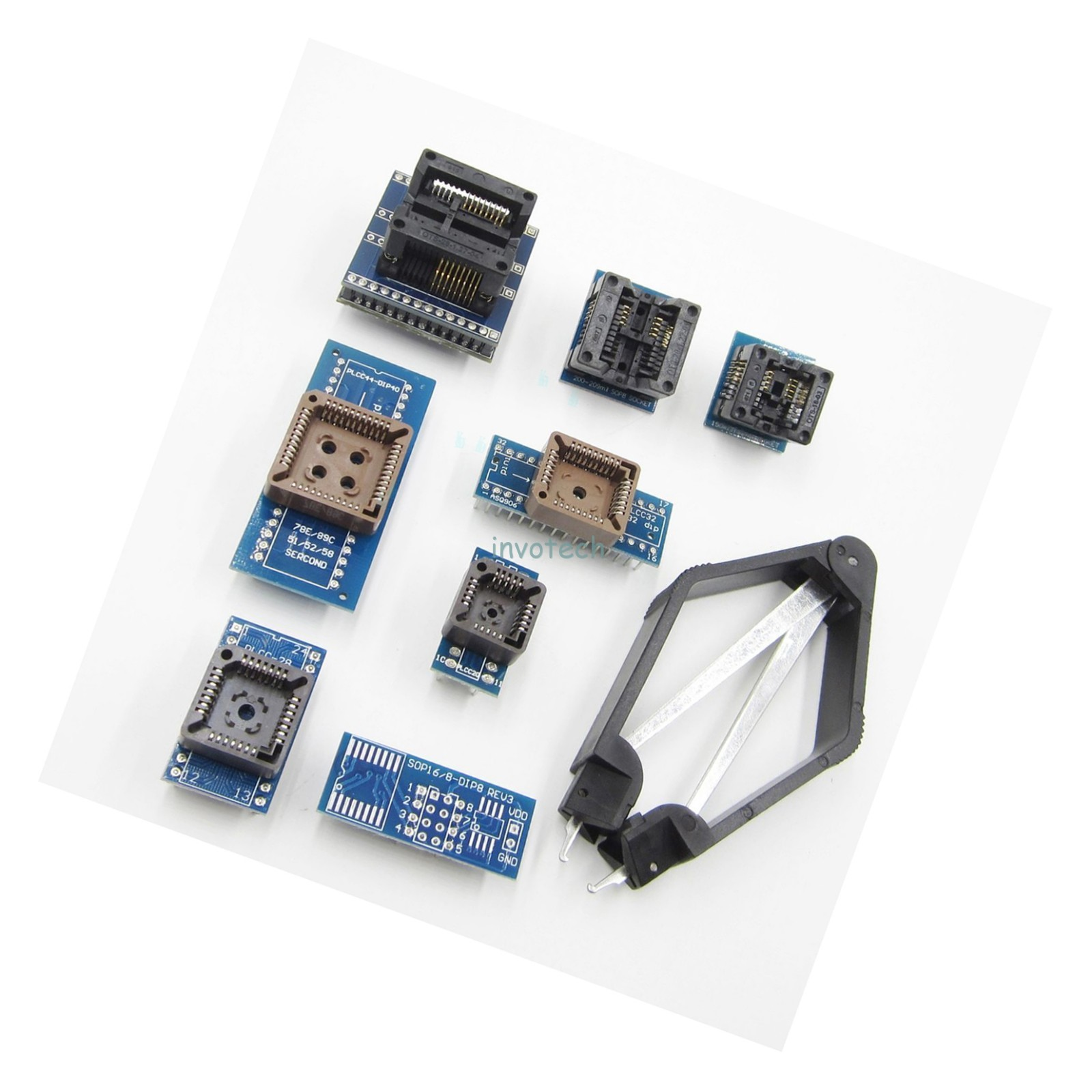 8 Programmer Adapters Sockets Kit for TL866CS TL866A EZP2010 with IC Extractor