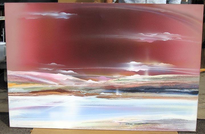 Elba alvarez burgundy landscape original artwork for Artworks landscape ltd