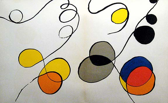 Alexander calder original art lithograph custom framed for Derriere le miroir calder