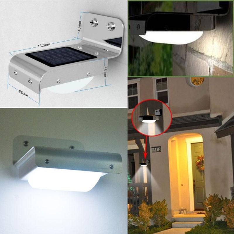 solar power outdoor light sensitive motion sensor 16 leds