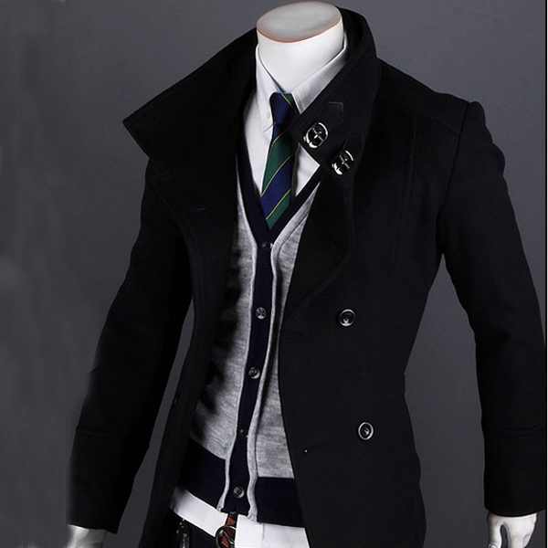 Images of Mens Winter Trench Coat - Reikian