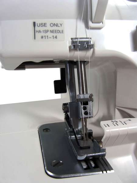 how to use a janome overlocker