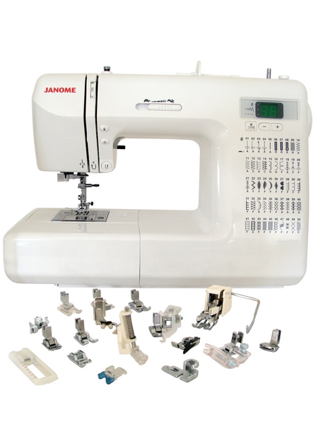 janome quarter inch foot without guide
