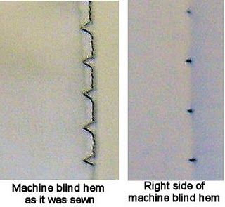 how to sew a blind catch stitch