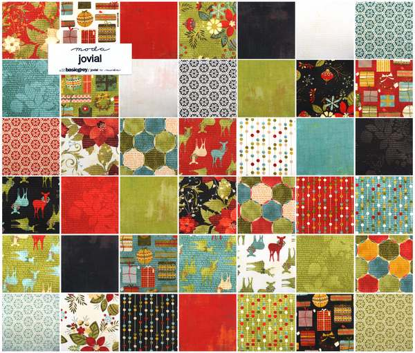 Moda Charm Pack Squares Quilt Fabric Jovial cotton quilting ...