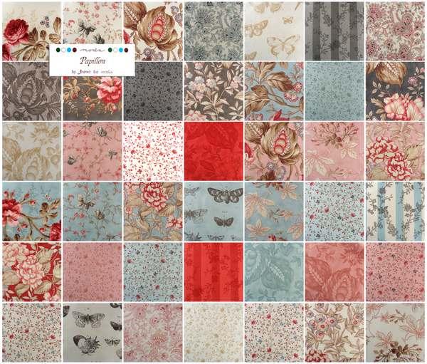 Moda Charm Pack Quilt Fabric Squares 3 Sisters Papillon cotton ... : moda quilt fabric - Adamdwight.com