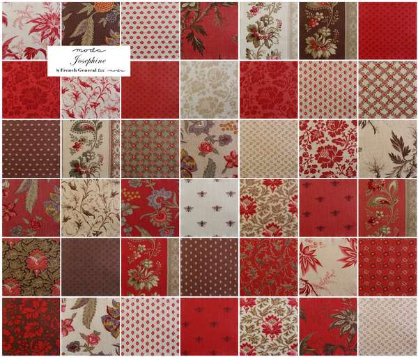 moda josephine group Redwork: Love Blooms Here