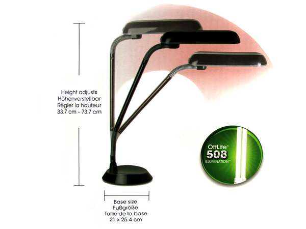 details about ott lite natural daylight desk craft lamp ottlite lamps. Black Bedroom Furniture Sets. Home Design Ideas
