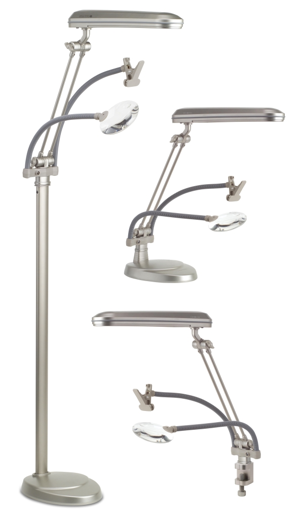 Ott-Lite Floor Lamp 3 in 1 with Clamp and Magnifier