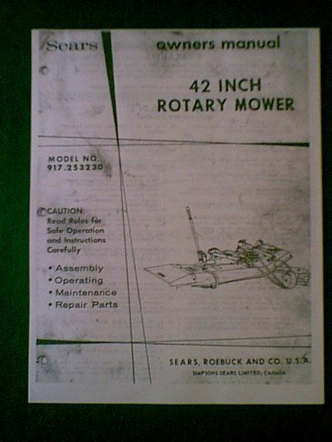 craftsman 42 inch mower manual