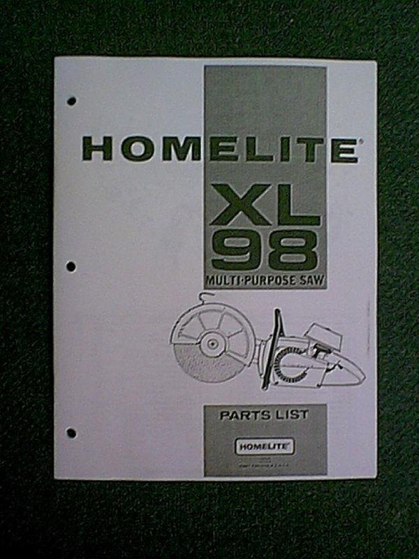 Homelite Xl 98 Multi Purpose Saw Parts Manual