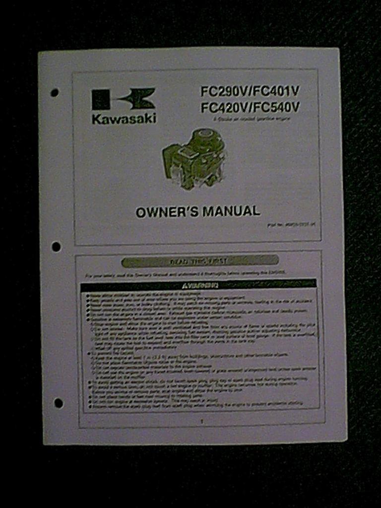 Kawasaki Engine Fc290v Fc401v Fc420v Fc540v Manual