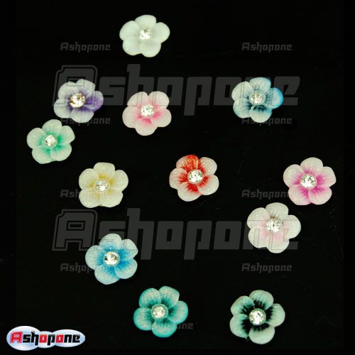 60 Acrylic Flower Rhinestones For Nail Art Decorations