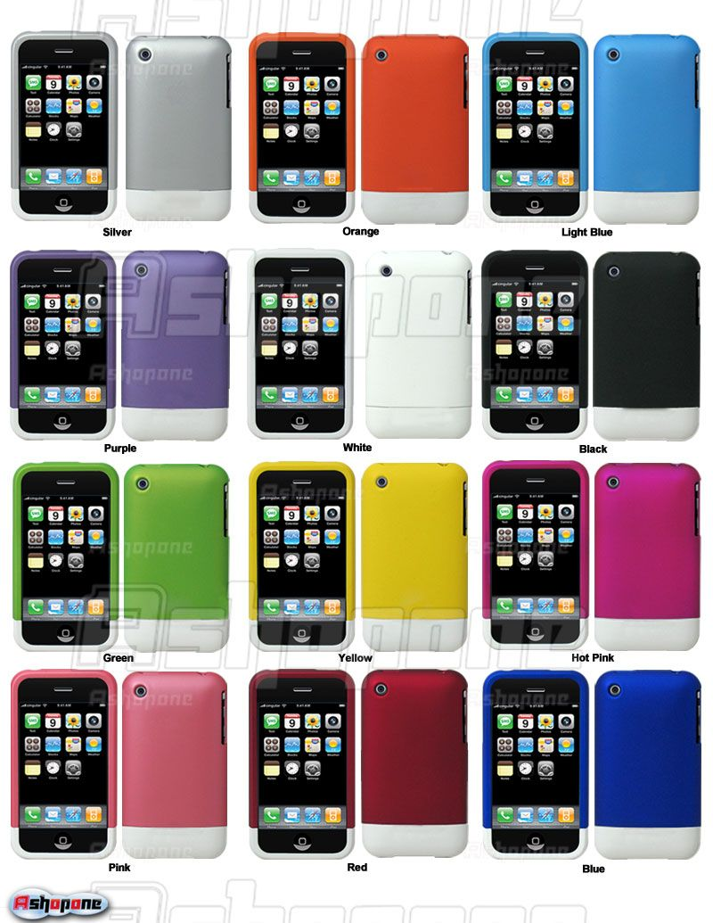 Rubber Hard Case Cover 4 Apple iPhone 3G 3GS 8/16/32GB