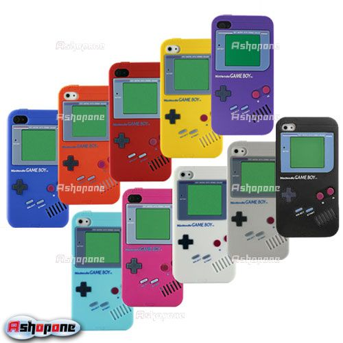 Nintendo-Soft-Silicone-Case-Cover-Protector-Game-Boy-For-Apple-iPhone-4-4G-4S