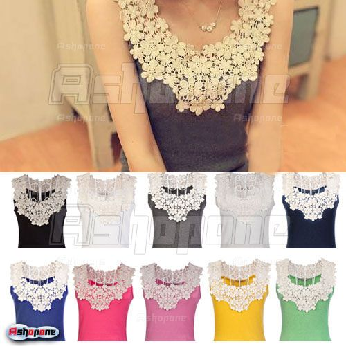 New-Sexy-Womens-Lace-Flower-Crochet-Ribbed-Tank-Top-Sleeveless-T-shirt-Cami