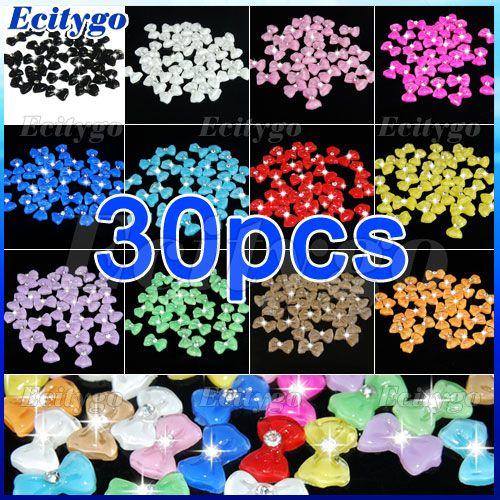 30pcs-3D-Acrylic-Big-Bowtie-Rhinestones-Nail-Art-Tips-Decoration
