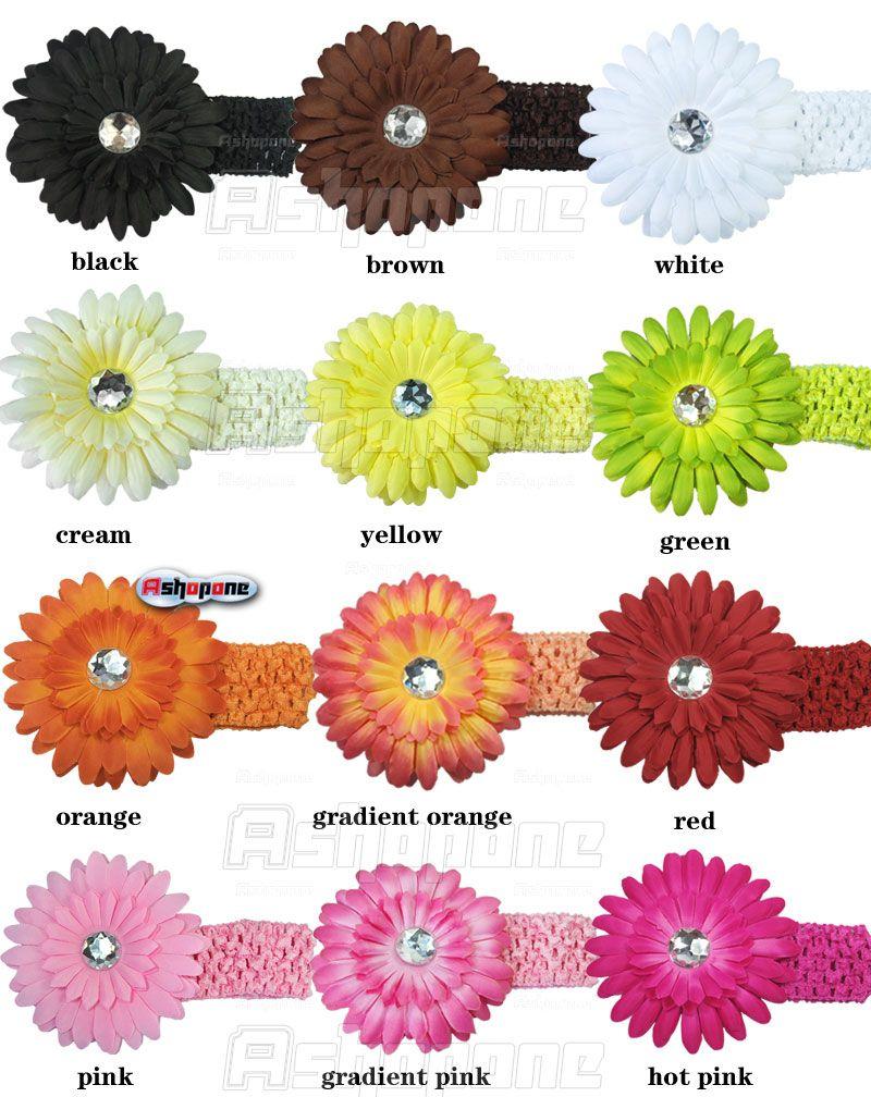Baby Girl Crochet Headband Hair Band with Daisy Flower