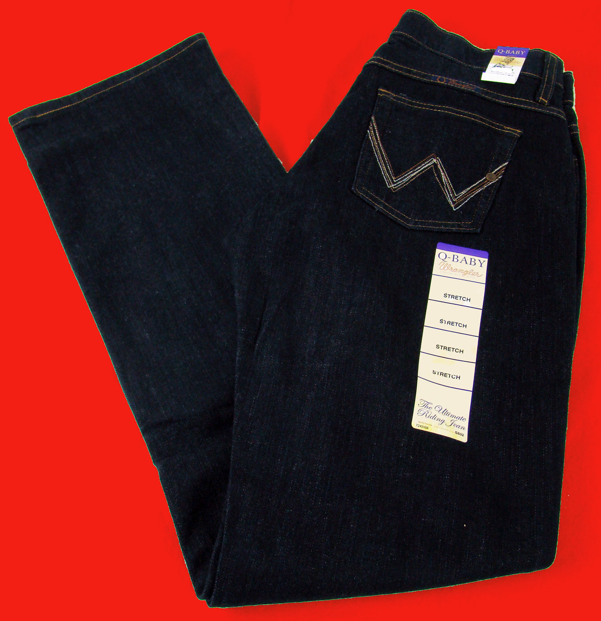 Womens Wrangler Q Baby Mid Rise Boot Cut Dark Dynasty Jeans ...
