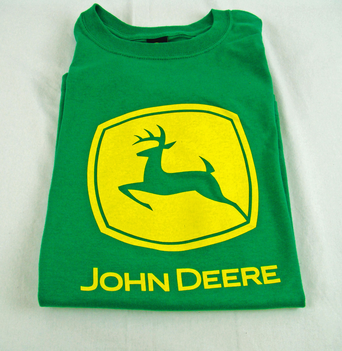 Womens Nwt Green John Deere Screen Printed Logo Classic T