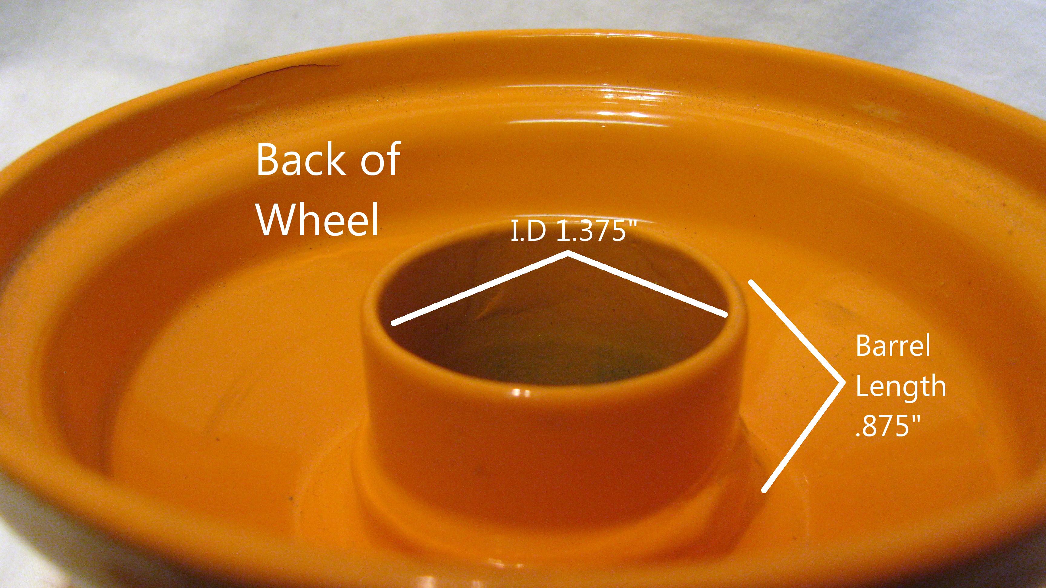 "4"" Rim Wheel for Husqvarna Zero Turn Riding Lawn Mower Deck or Implement 4x2 375"