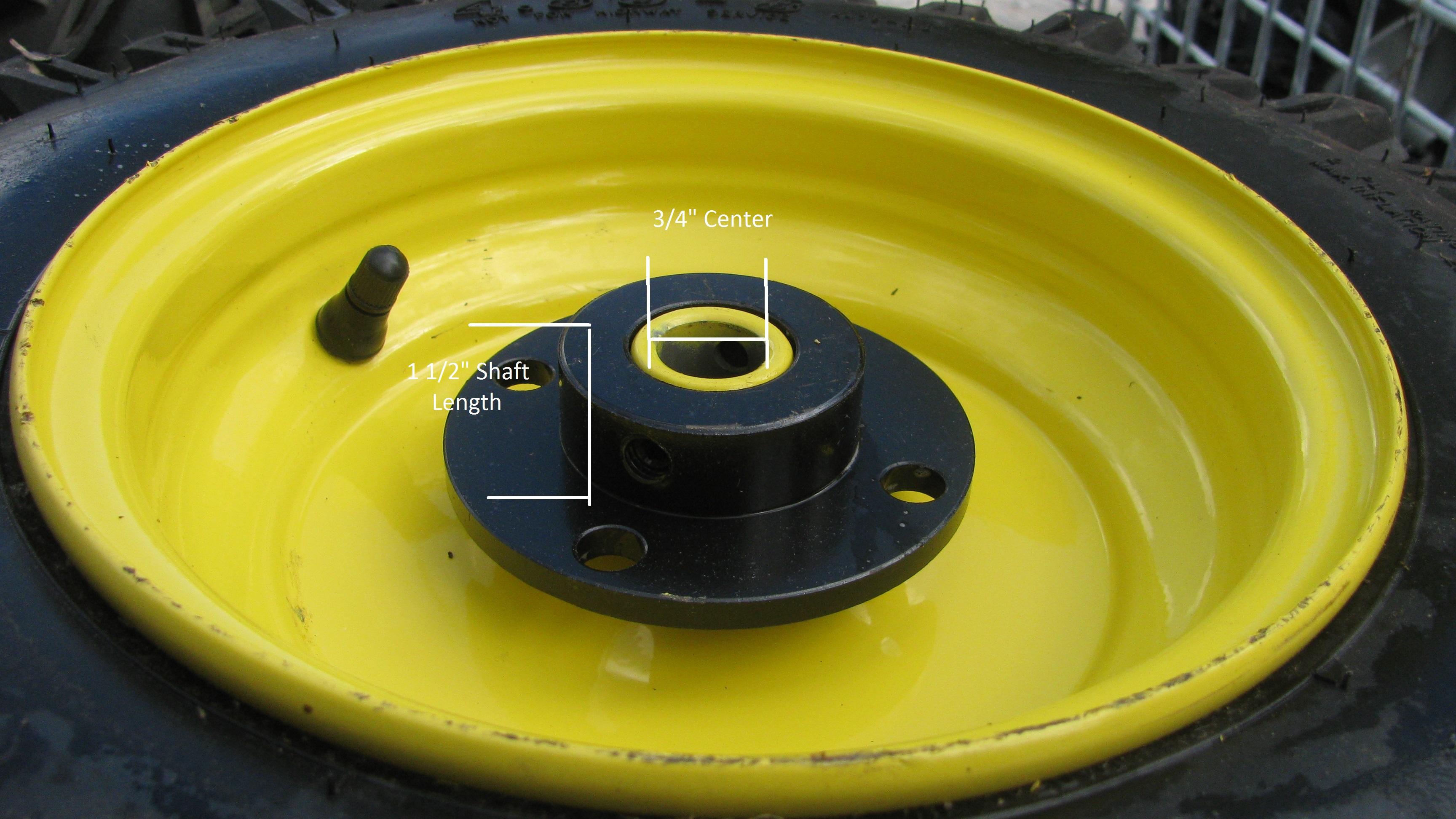 1 4 80 8 4 80x8 480 8 Snow Blower Thrower Tiller Tire Rim Wheel Assembly Right