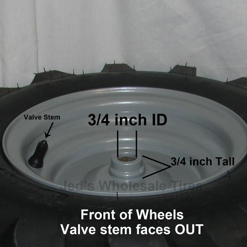 2 480 8 4 80 4 00 8 Garden Tiller Tire Rim Wheel Assemblies 88133 88134 4ply