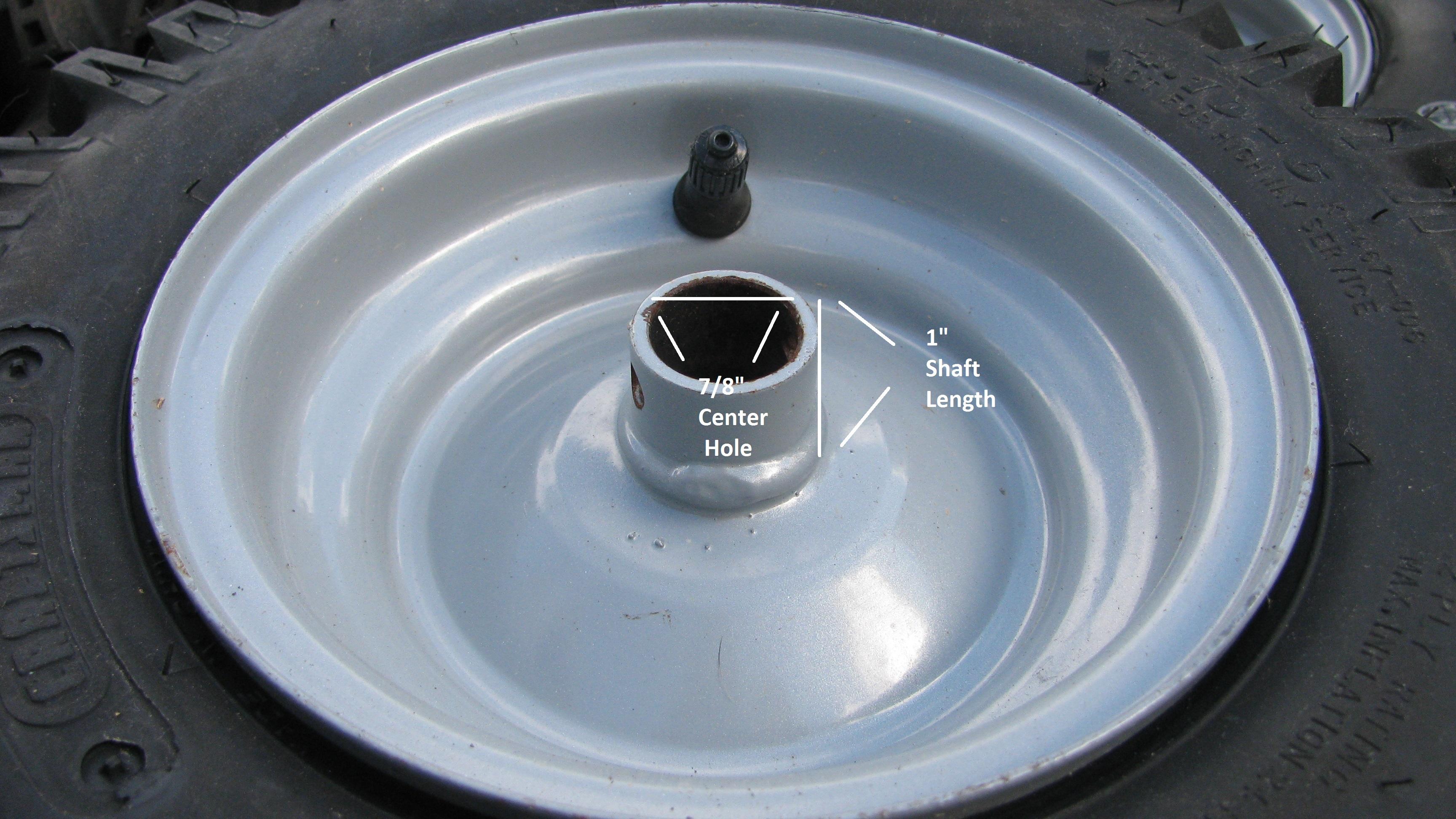 1 4 10 6 4 10x6 Snow Blower Thrower Tiller Tire Rim Wheel Assembly Left