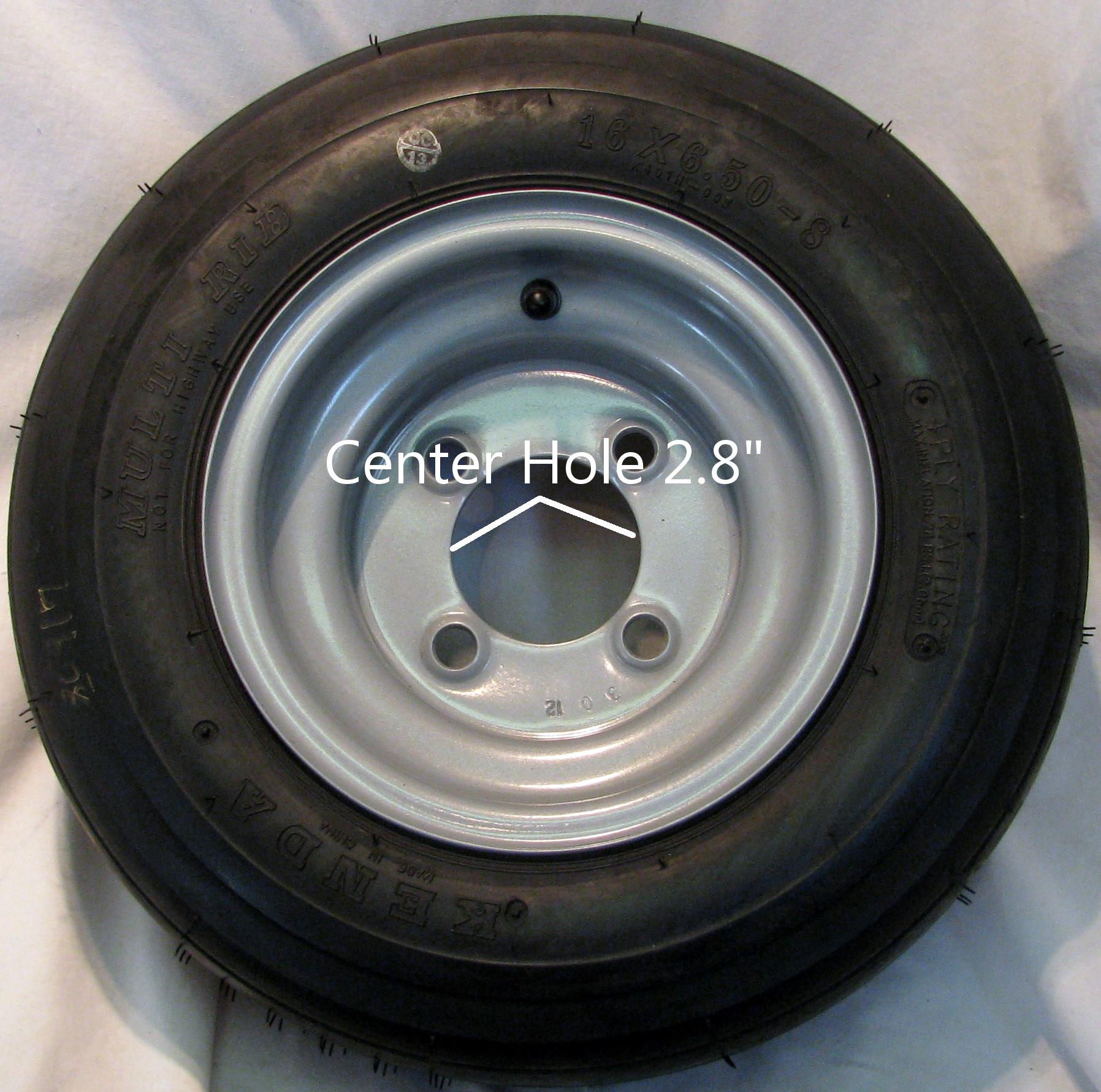 16x6 50 8 16x650 8 Tire Rim Wheel Assembly EV Master Go Kart Kenda K401 Rib 4ply
