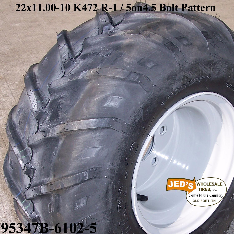 22x11 00 10 R 1 Lug Tire Rim Wheel for Grasshopper Zero Turn Riding Lawn Mower