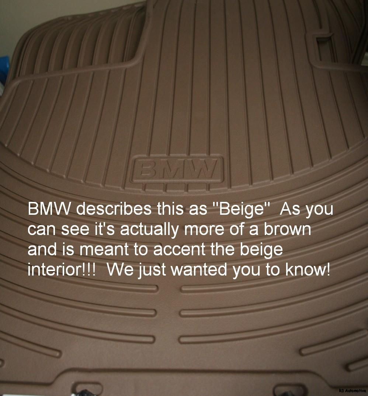 2007 BMW 328/328i/328xi OEM Rubber Floor Mats -BEIGE