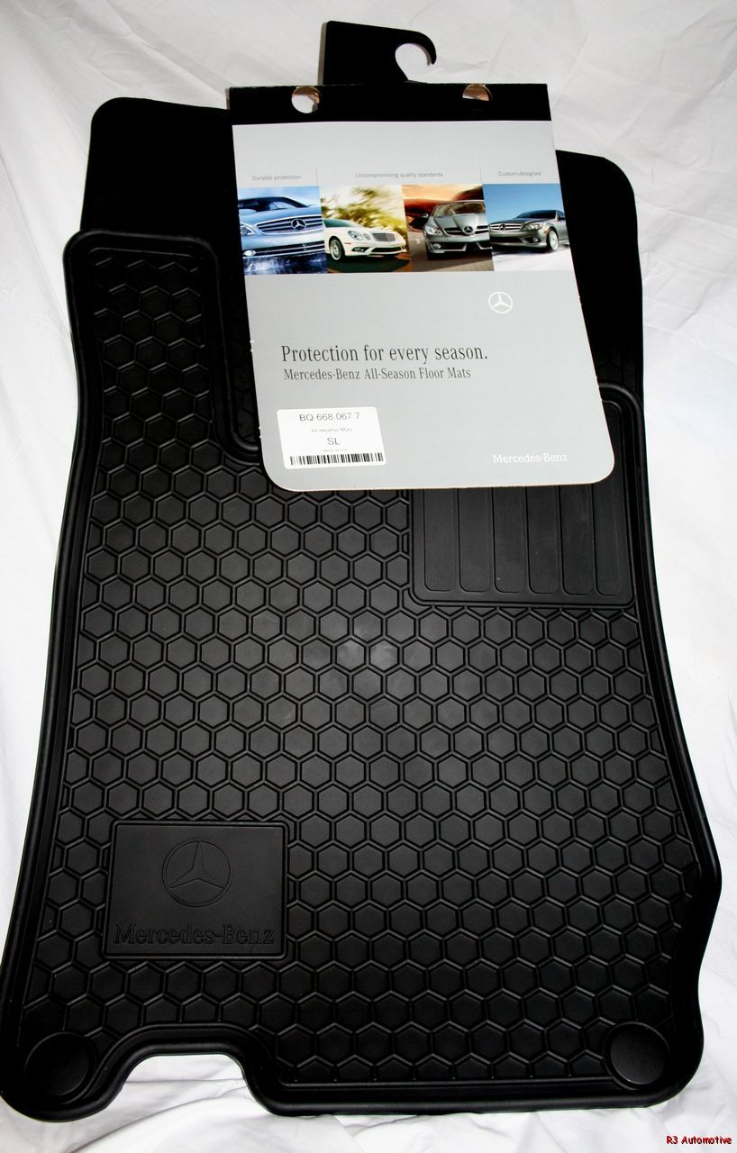 2007 mercedes sl550 sl600 oem rubber floor mats black ebay for Mercedes benz sl550 floor mats