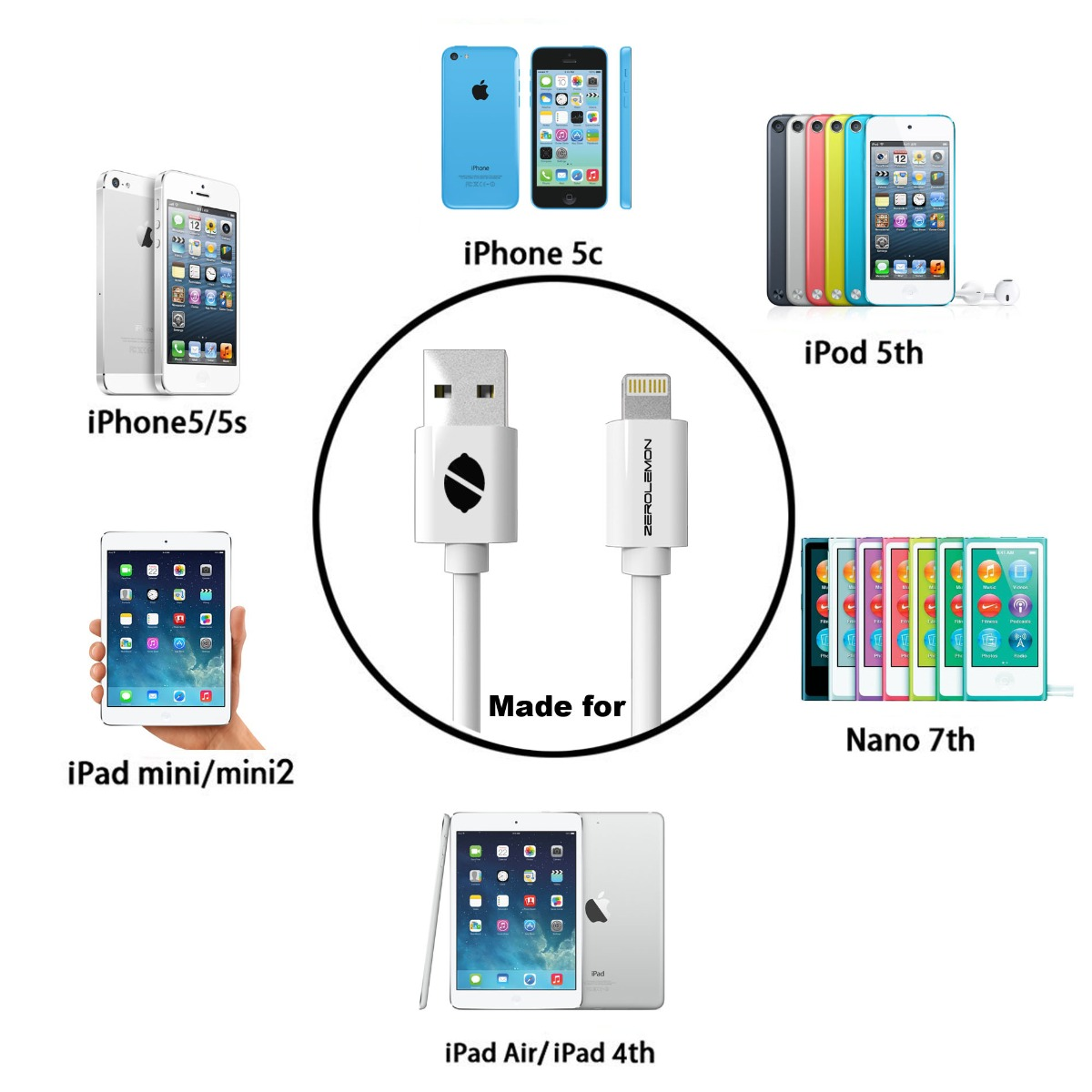 Кабель зарядки для iphone 5s схема