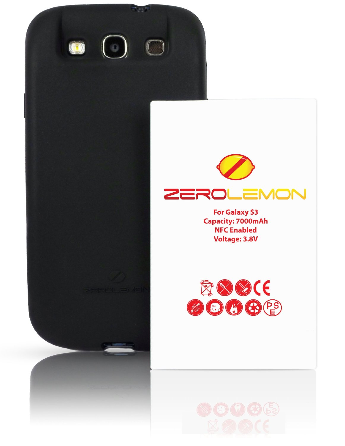 Samsung galaxy battery s3 verizon - Zerolemon Samsung Galaxy S3 7000mah Extended Battery White Tpu Full Edge Case