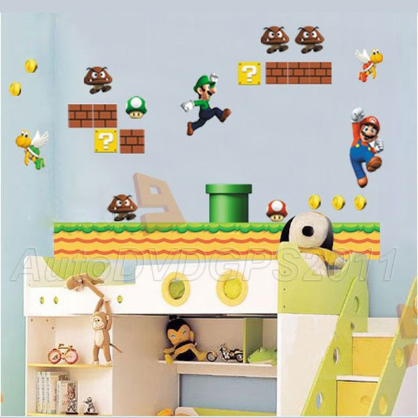 The Nintendo Super Mario Bros Re Stik Wall Decal 2016