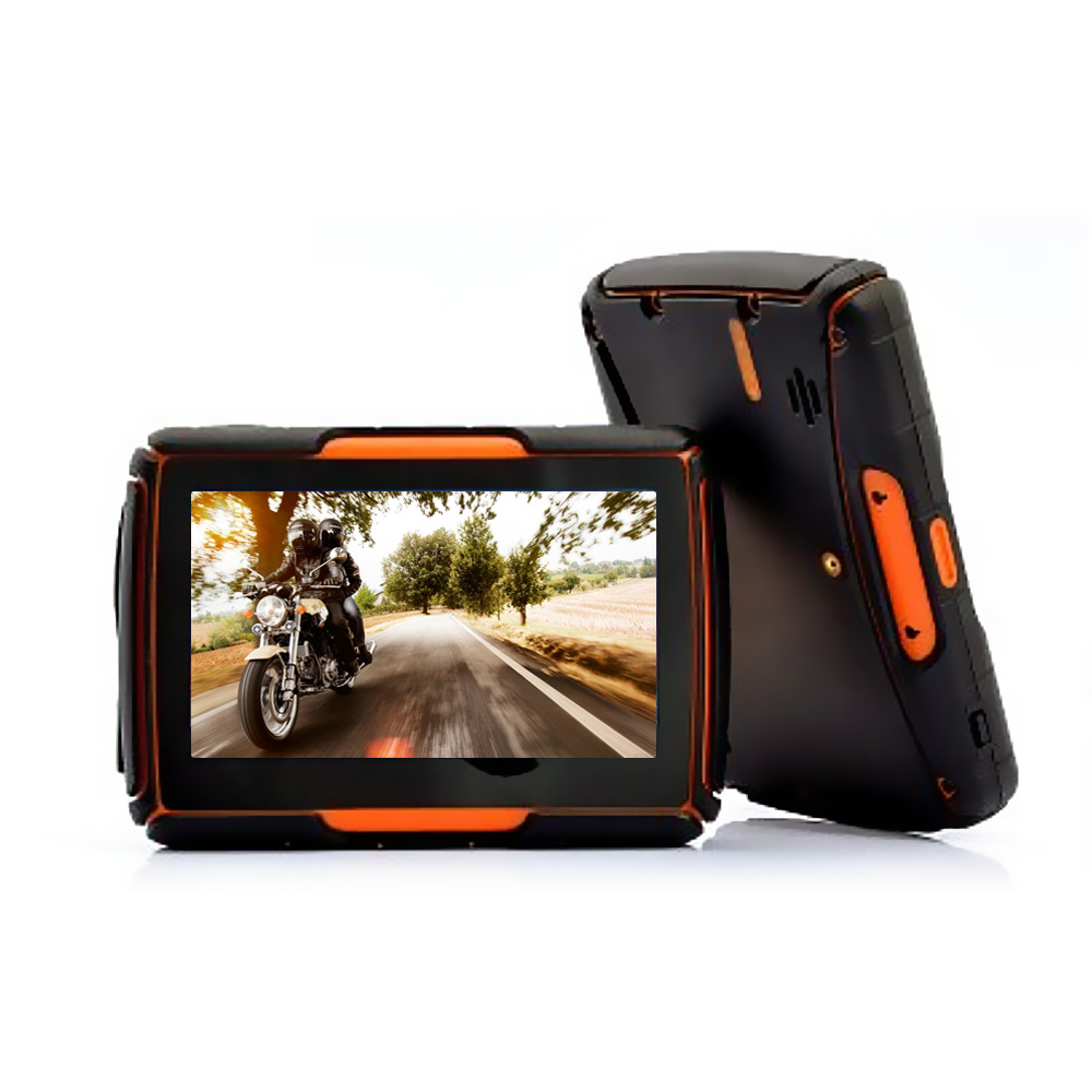 Motorcycle Navigation Systems : Touch screen quot motorcycle gps navigation system rage