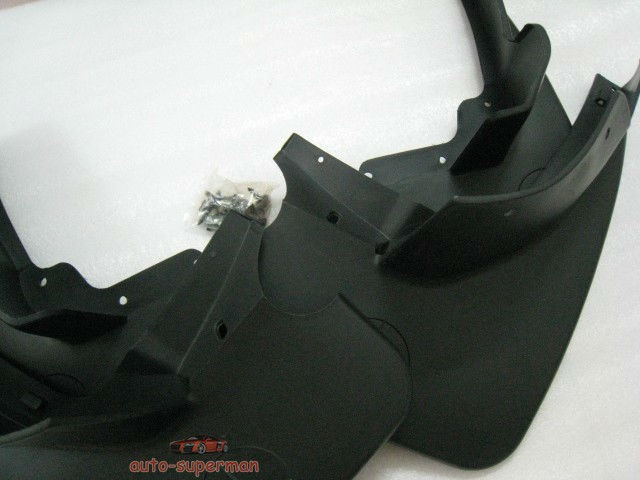 Mud flaps splash guards for benz ml350 ml500 w164 4pcs ebay for Mercedes benz ml350 mud flaps