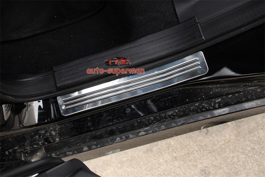 2pc rear door sill scuff plate guard mercedes benz c class for Sill plate definition